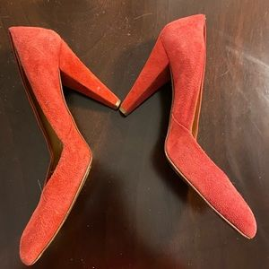 Madewell Italy Red Suede Heel